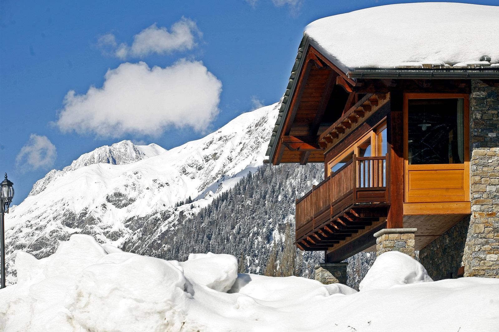 le camere con vista sul monte bianco